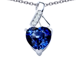 Original Star K™ 8mm Heart Shape Created Sapphire Ribbon Pendant style: 306809