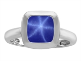 Original Star K™ 8mm Cushion Cut Solitaire Engagement Ring With Created Star Sapphire