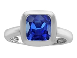 Original Star K™ 8mm Cushion Cut Solitaire Ring With Created Sapphire style: 306872