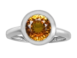 Original Star K 8mm Round Solitaire Engagement Ring With Genuine Citrine
