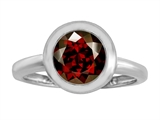 Original Star K™ 8mm Round Solitaire Ring With Simulated Garnet style: 306882