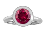 Original Star K™ 8mm Round Solitaire Ring With Created Ruby style: 306886