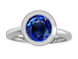 Star K™ 8mm Round Solitaire Ring With Created Sapphire style: 306887