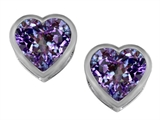 Original Star K™ 7mm Heart Shape Simulated Alexandrite Heart Earrings Studs style: 307049