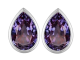 Star K™ 9x6mm Pear Shape Simulated Alexandrite Earrings Studs style: 307089