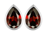Original Star K™ 9x6mm Pear Shape Simulated Garnet Earrings Studs style: 307093