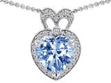 Original Star K™ Heart Shape Simulated Aquamarine Pendant style: 307229