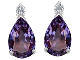 Original Star K™ 9x6mm Pear Shape Simulated Alexandrite Earrings Studs style: 307263