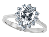 Original Star K™ 8x6mm Pear Shape Genuine White Topaz Engagement Ring