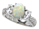 Original Star K 9x7mm Oval Created Opal Engagement Ring