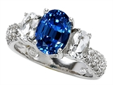 Original Star K 9x7mm Oval Created Sapphire Engagement Ring
