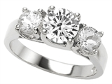 Original Star K™ 7mm Round Genuine White Topaz Engagement Ring