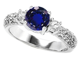 Original Star K 7mm Round Created Sapphire Engagement Ring