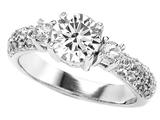 Original Star K™ 7mm Round Genuine White Topz Ring style: 307303