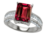 Original Star K™ 10x8mm Emerald Cut Created Ruby Engagement Ring style: 307304