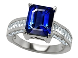 Original Star K 10x8mm Emerald Cut Created Sapphire Engagement Ring