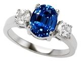 Original Star K™ 9x7mm Oval Created Sapphire Engagement Ring