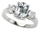 Original Star K™ 9x7mm Oval Genuine White Topaz Engagement Ring