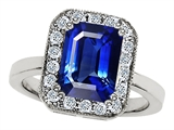 Original Star K™ 10x8mm Emerald Cut Created Sapphire Engagement Ring
