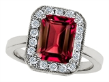 Original Star K 10x8mm Emerald Cut Created Ruby Engagement Ring