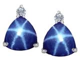 Original Star K™ 7mm Trillion Cut Created Star Sapphire Earrings Studs style: 307533