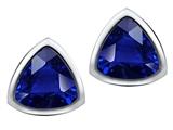 Original Star K™ 7mm Trillion Cut Created Sapphire Earrings Studs style: 307549