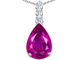 Original Star K™ Large 14x10mm Pear Shape Created Pink Sapphire Pendant style: 307562