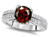 Original Star K™ Round 7mm Genuine Garnet Engagement Wedding Ring style: 307604