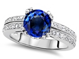 Original Star K™ Round 7mm Created Sapphire Wedding Ring style: 307605