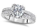 Original Star K™ Round 7mm Genuine White Topaz Wedding Ring style: 307609