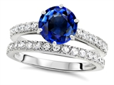 Original Star K™ Round 7mm Created Sapphire Engagement Wedding Ring