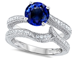 Original Star K™ Round 7mm Created Sapphire Wedding Set style: 307744