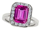 Original Star K 10x8mm Emerald Cut Created Pink Sapphire Ring