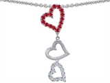 Original Star K Dangling Heart with Round Created Ruby Pendant