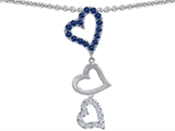 Original Star K Dangling Heart with Round Created Sapphire Pendant