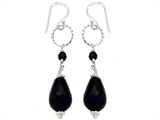 Noah Philippe Pear Shape Simulated Black Onyx Dangling Drop Earrings