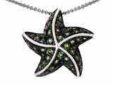 Original Star K Starfish Pendant With Round Simulated Peridot