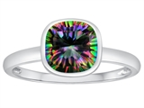Tommaso Design™ 7mm Cushion Cut Rainbow Mystic Topaz Engagement Solitaire Ring style: 307904