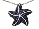 Original Star K Starfish Pendant With Round Created Sapphire