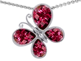 Original Star K Butterfly with Pear Shape Created Ruby Pendant