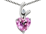 Original Star K™ Heart Shape 8mm Simulated Pink Morganite Pendant