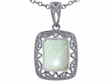 Tommaso Design™ Emerald Cut Genuine Opal Pendant style: 308198