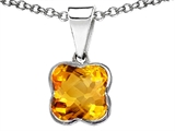 Tommaso Design Clover Genuine Citrine Pendant