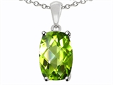 Tommaso Design™ 8x6mm Cushion Octagon Cut Genuine Peridot Pendant