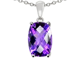 Tommaso Design 8x6mm Cushion Octagon Cut Genuine Amethyst Pendant