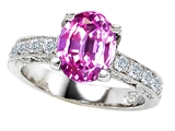 Original Star K Oval Created Pink Sapphire Ring