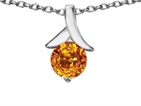 Original Star K Round Pendant with Genuine Citrine
