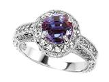 Original Star K 7mm Round Simulated Alexandrite Engagement Ring
