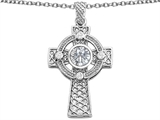 Original Star K™ Celtic Cross pendant with 7mm Round White Topaz style: 308322