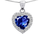 Original Star K™ Heart Shape 8mm Created Sapphire Pendant style: 308351